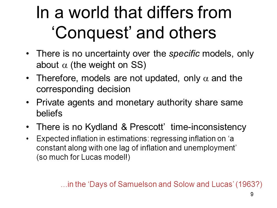 In a world that differs from 'Conquest' and others