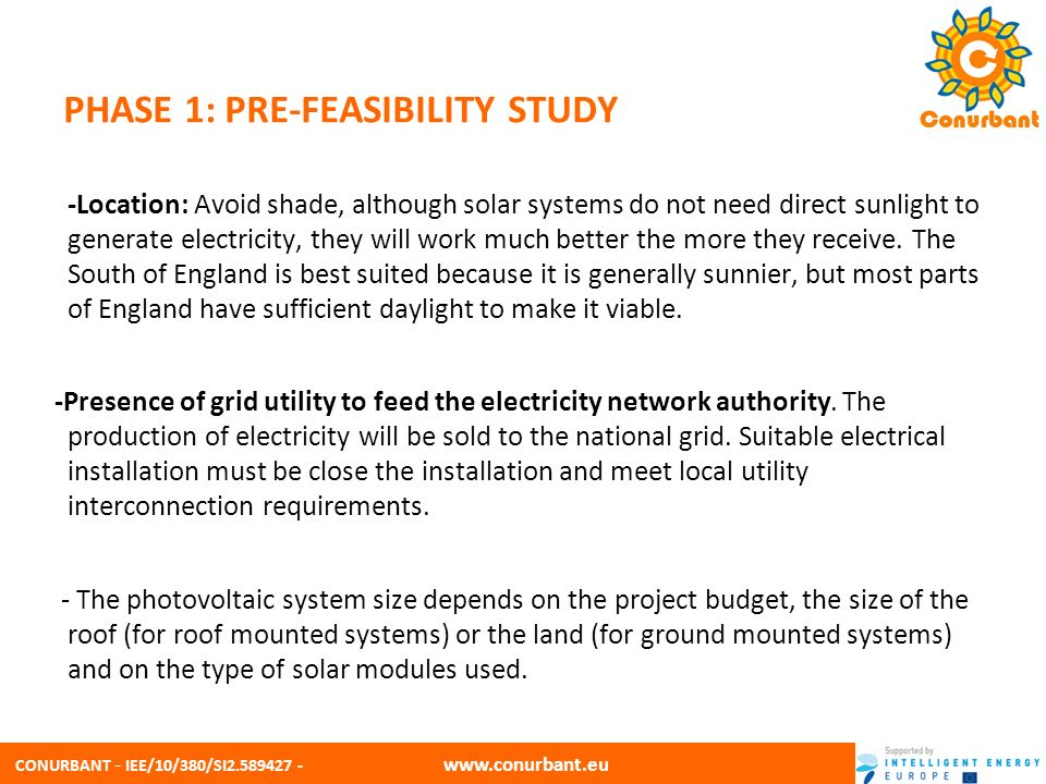 PHASE 1: PRE-FEASIBILITY STUDY