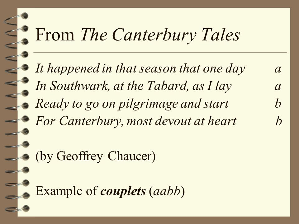From The Canterbury Tales