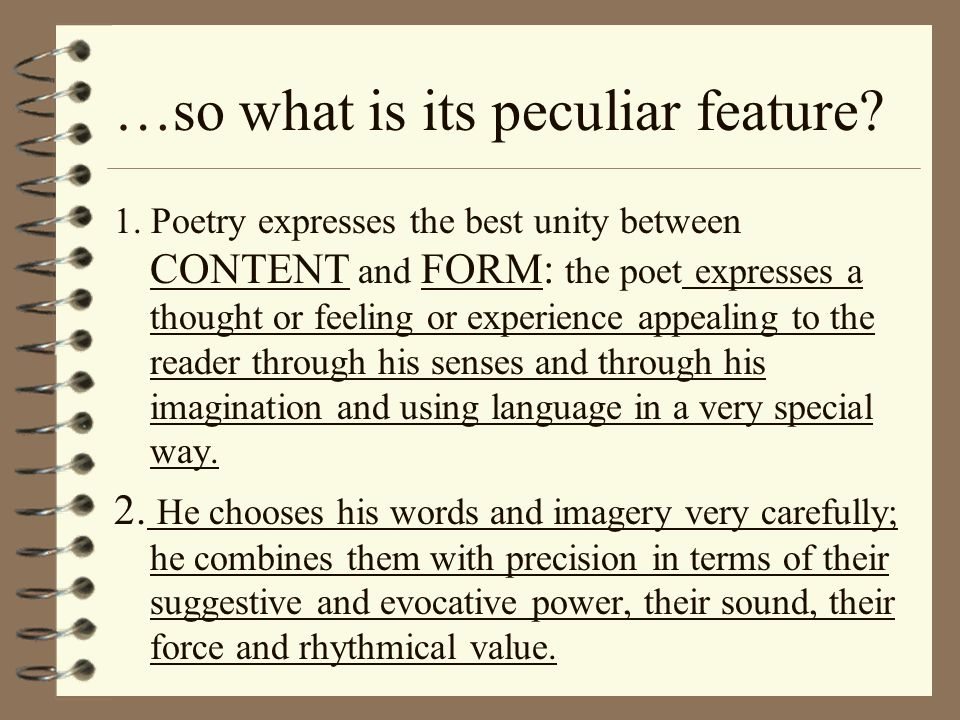 …so what is its peculiar feature