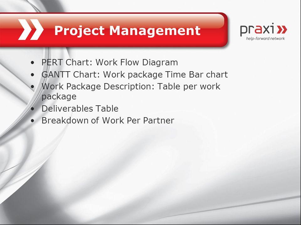 Project Management PERT Chart: Work Flow Diagram