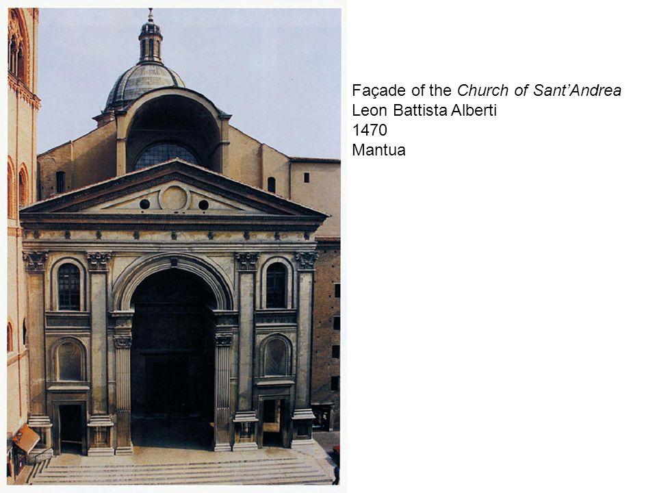 Façade of the Church of Sant'Andrea Leon Battista Alberti 1470 Mantua