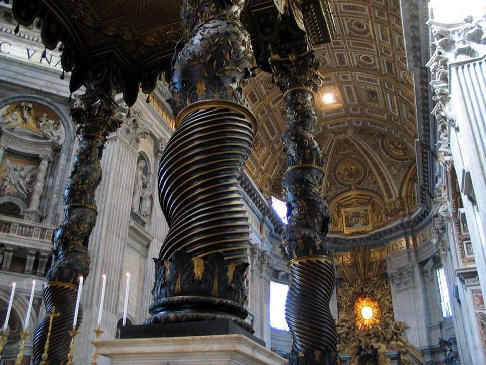 Bernini The Baldacchino 1624 bronze, partly gilt St. Peter's, Vatican