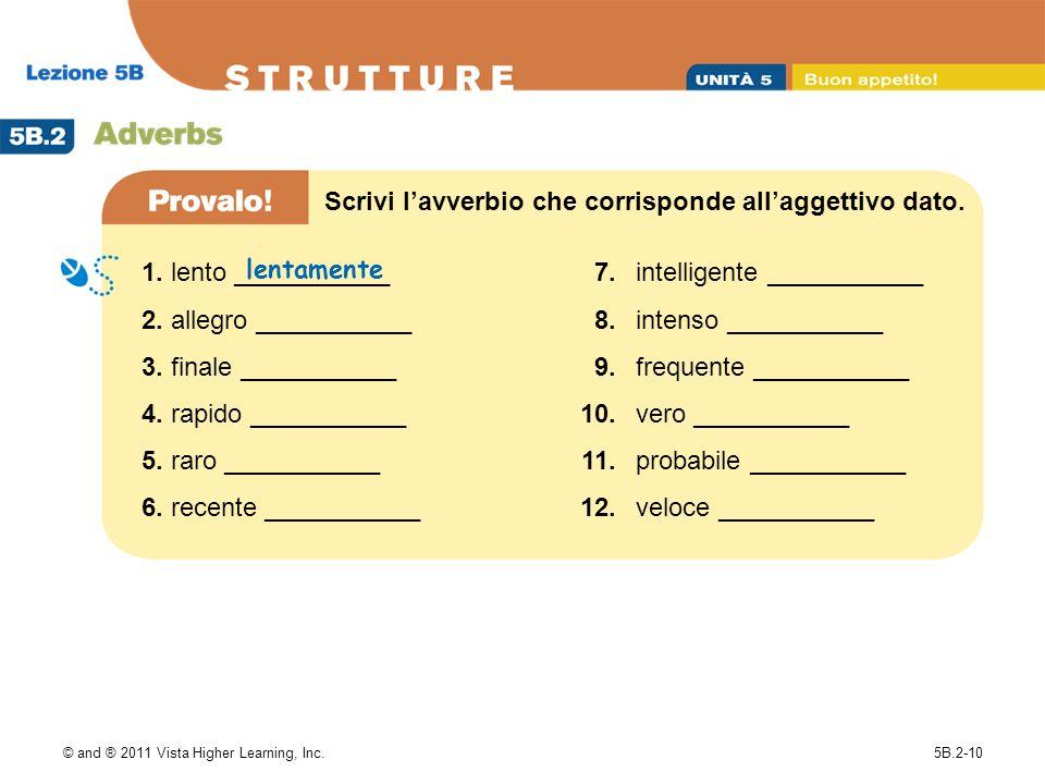 Scrivi l'avverbio che corrisponde all'aggettivo dato.
