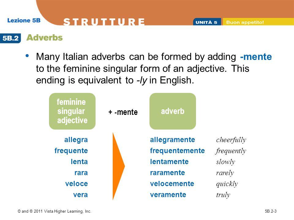 feminine singular adjective