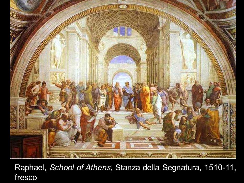 Raphael, School of Athens, Stanza della Segnatura, 1510-11, fresco