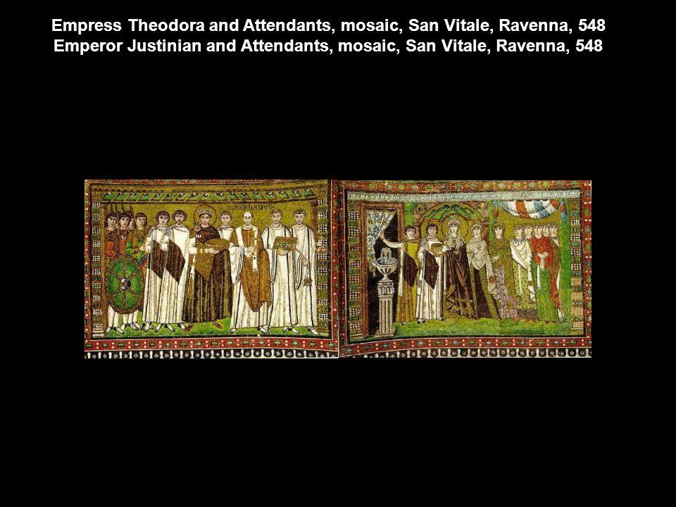 Emperor Justinian and Attendants, mosaic, San Vitale, Ravenna, 548