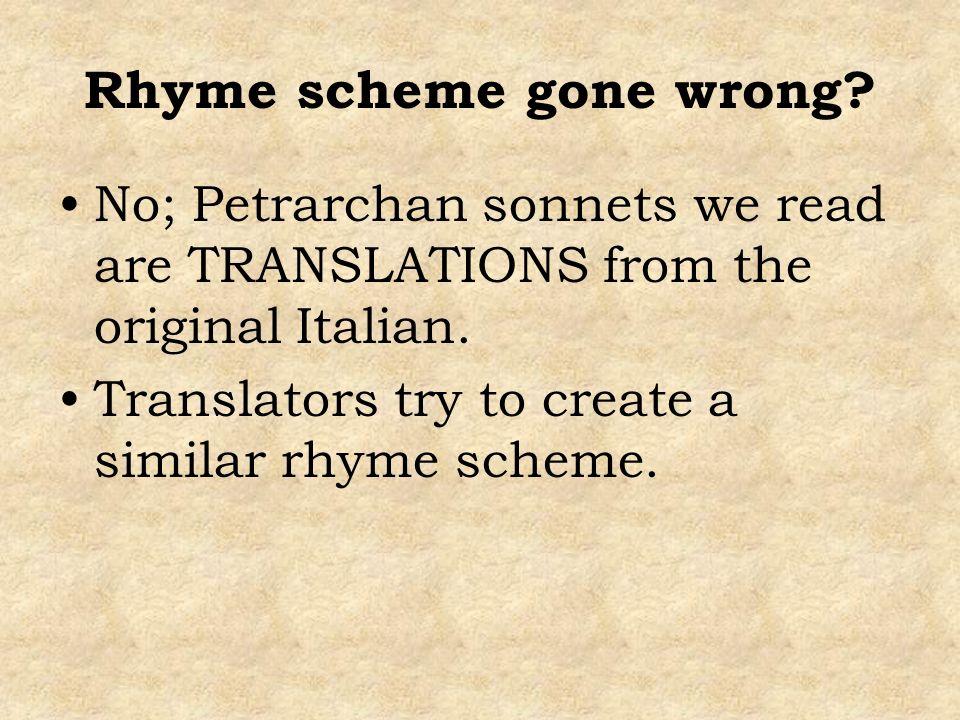 Rhyme scheme gone wrong