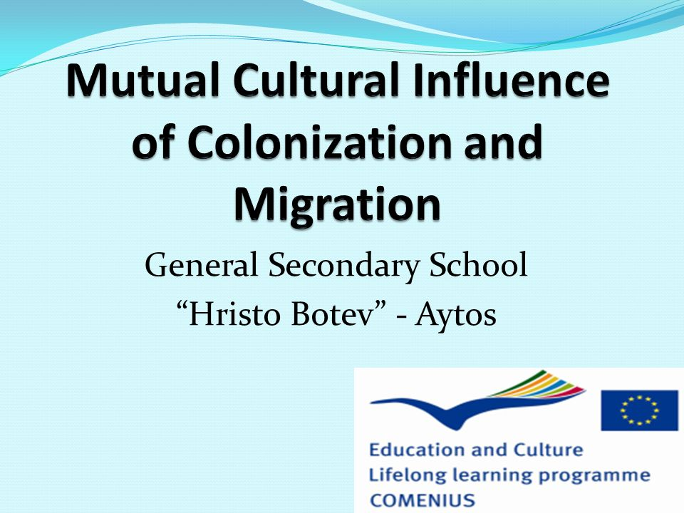 Mutual Cultural Influence of Colonization and Migration