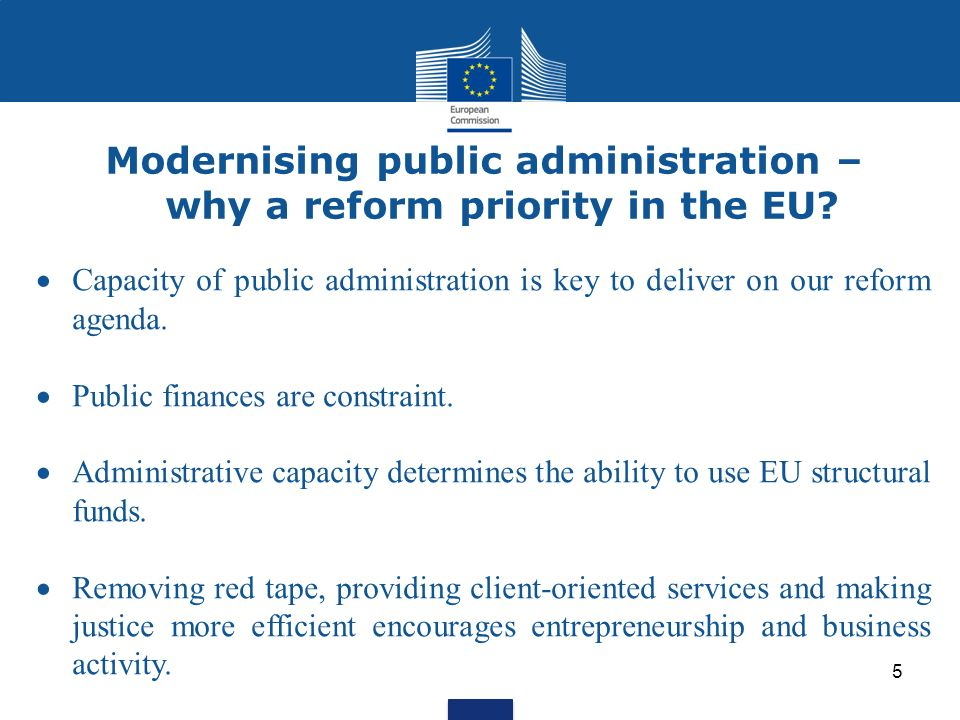 Modernising public administration – why a reform priority in the EU