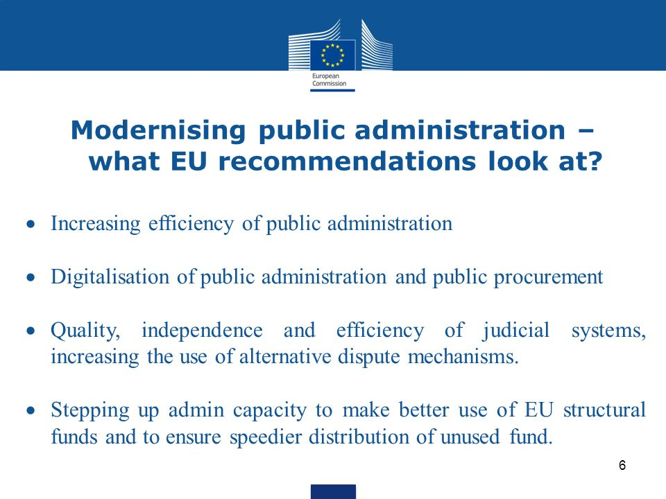 Modernising public administration – what EU recommendations look at