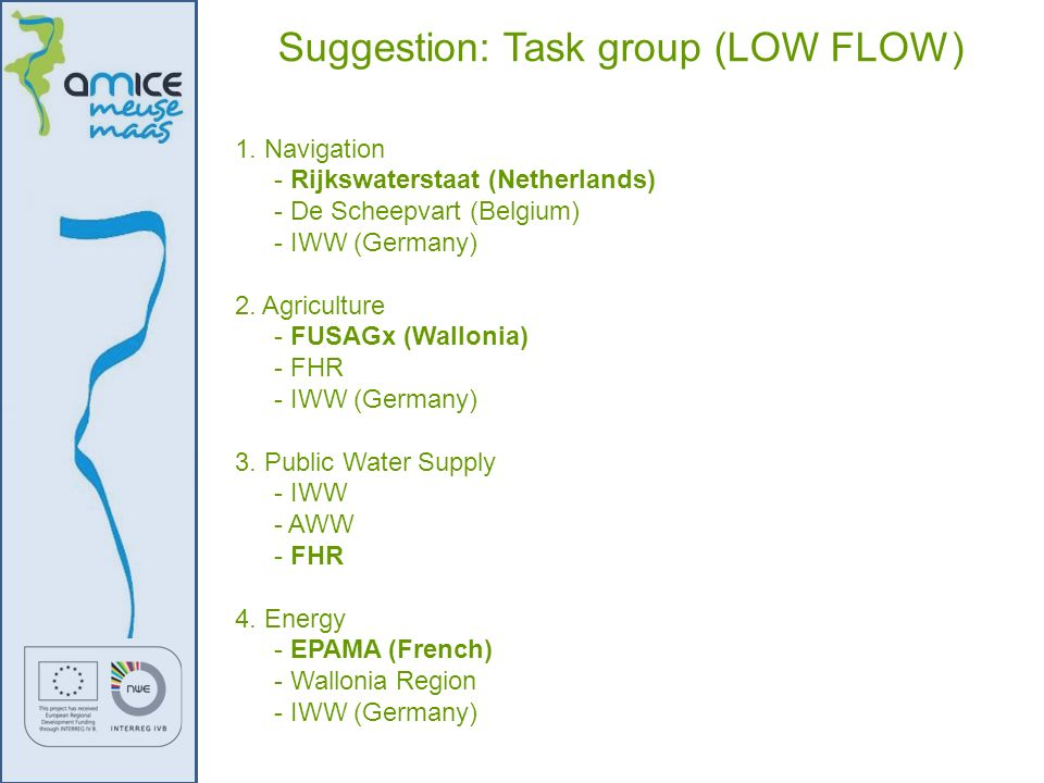 Suggestion: Task group (LOW FLOW)