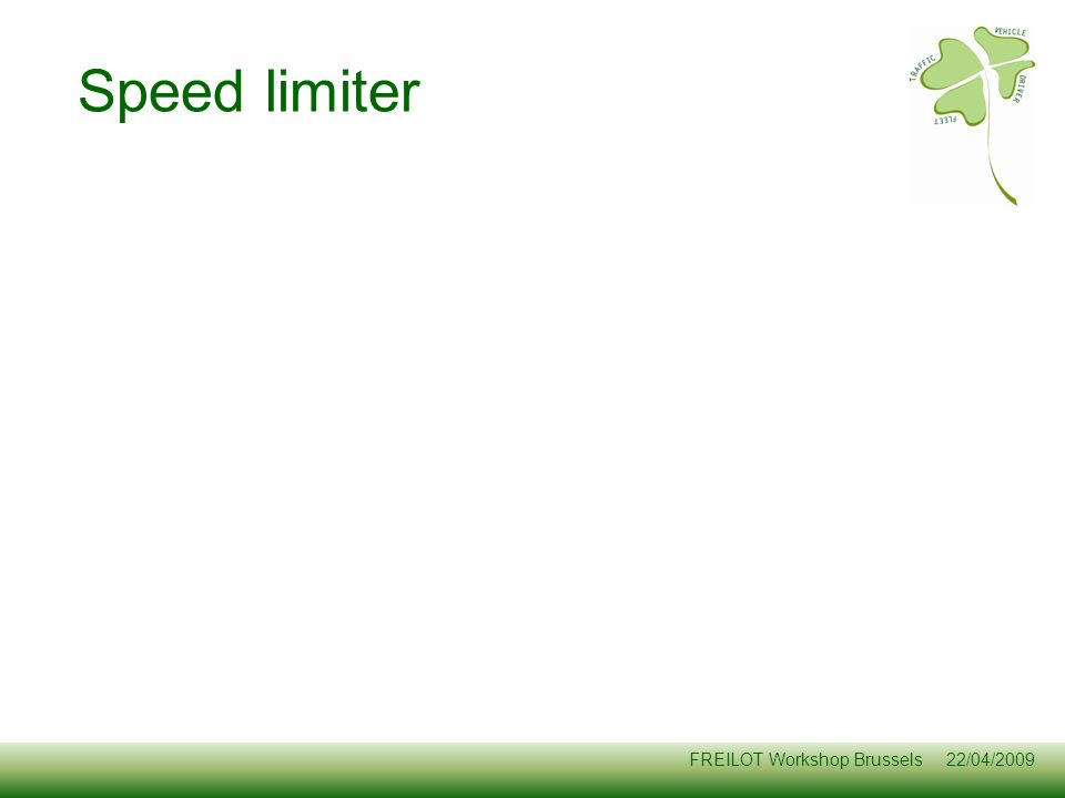 Speed limiter Objective of this slide: Present WHY do we want to do this.