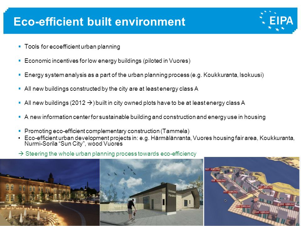 Eco-efficient built environment