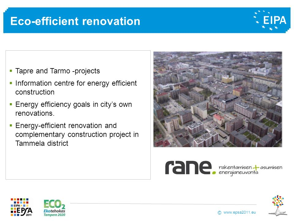 Eco-efficient renovation