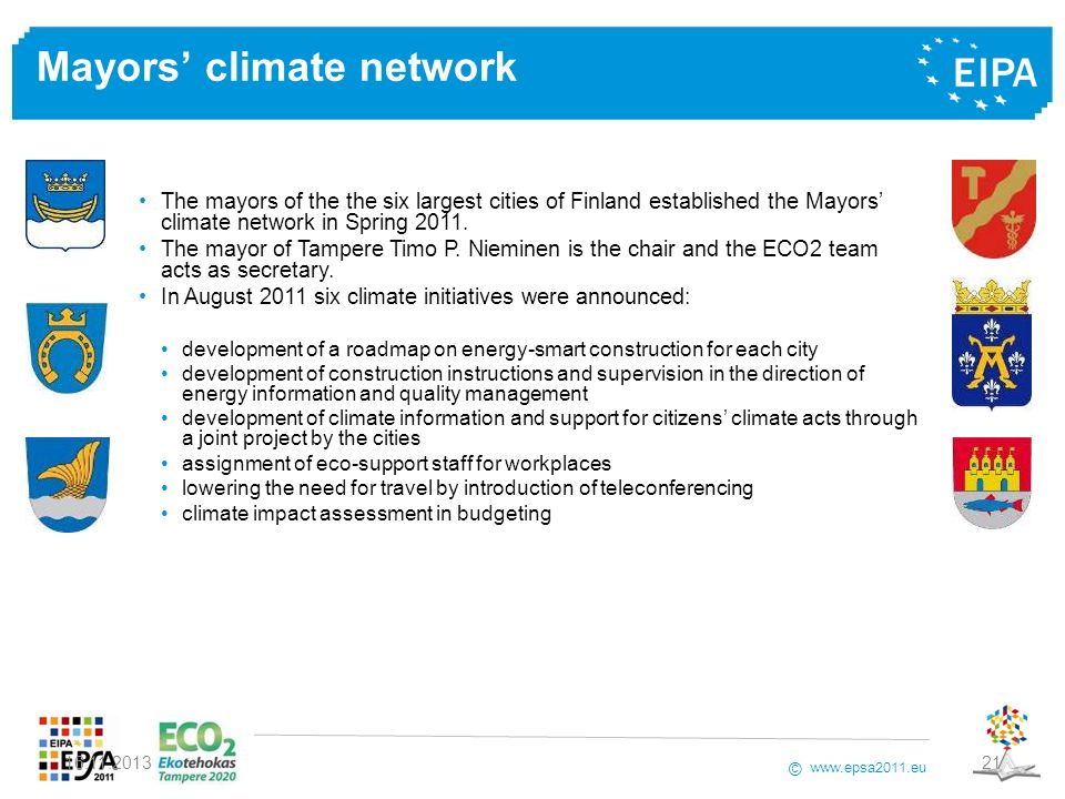Mayors' climate network