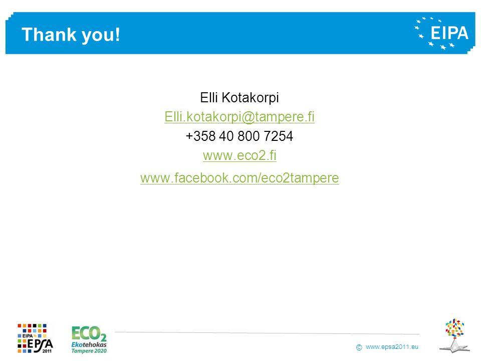 Thank you! Elli Kotakorpi Elli.kotakorpi@tampere.fi +358 40 800 7254