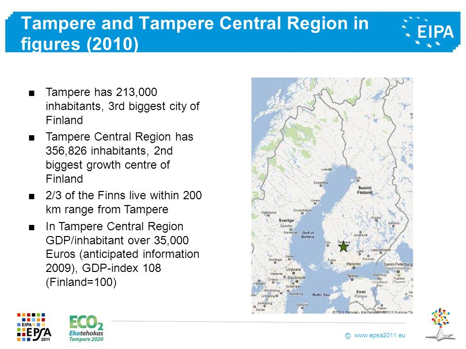 Tampere and Tampere Central Region in figures (2010)