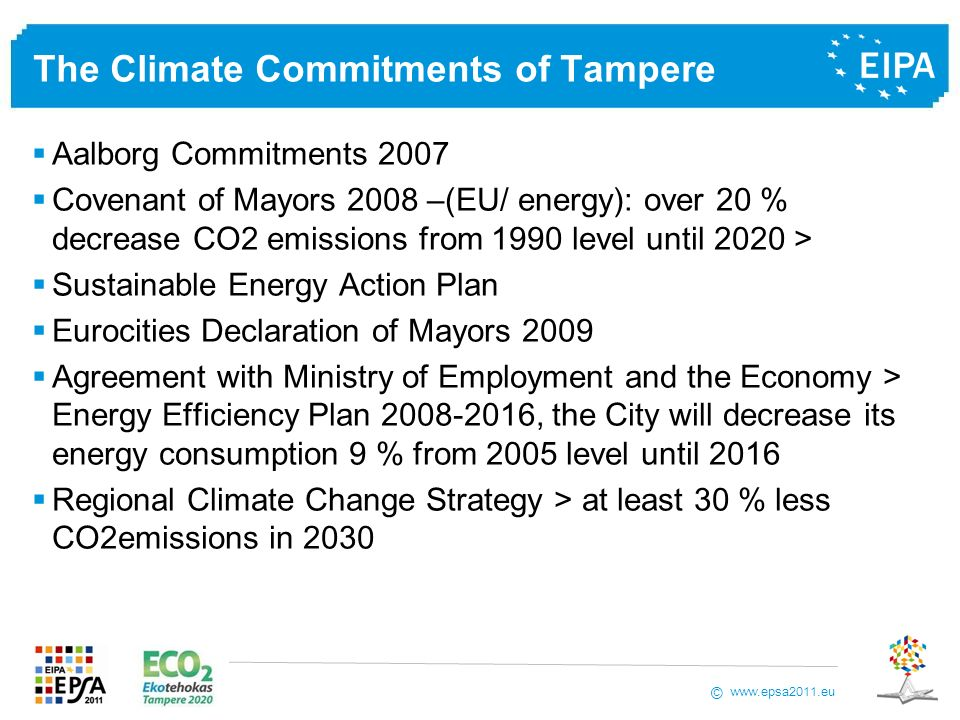 The Climate Commitments of Tampere