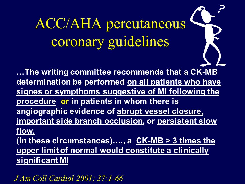 ACC/AHA percutaneous coronary guidelines