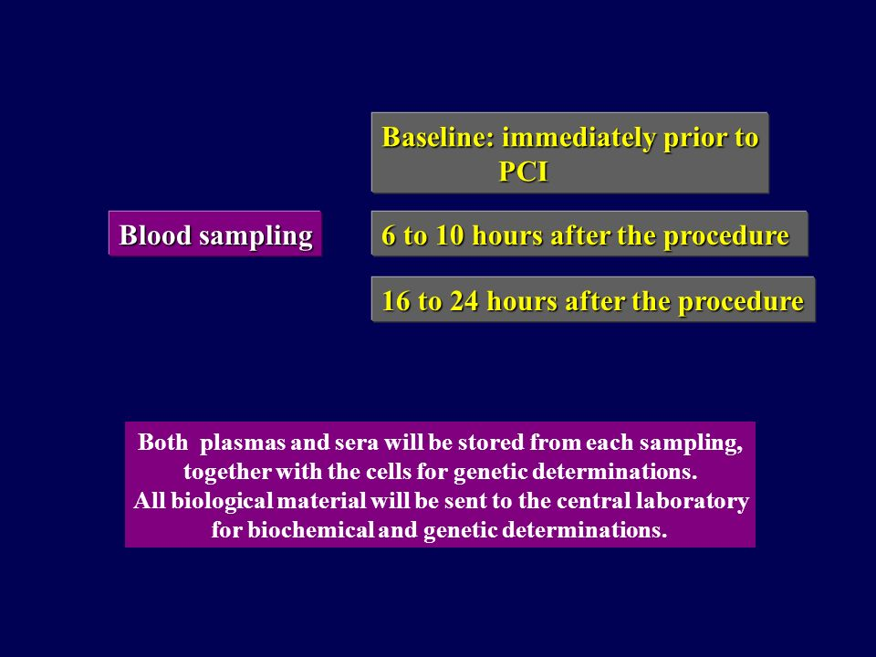 Baseline: immediately prior to PCI