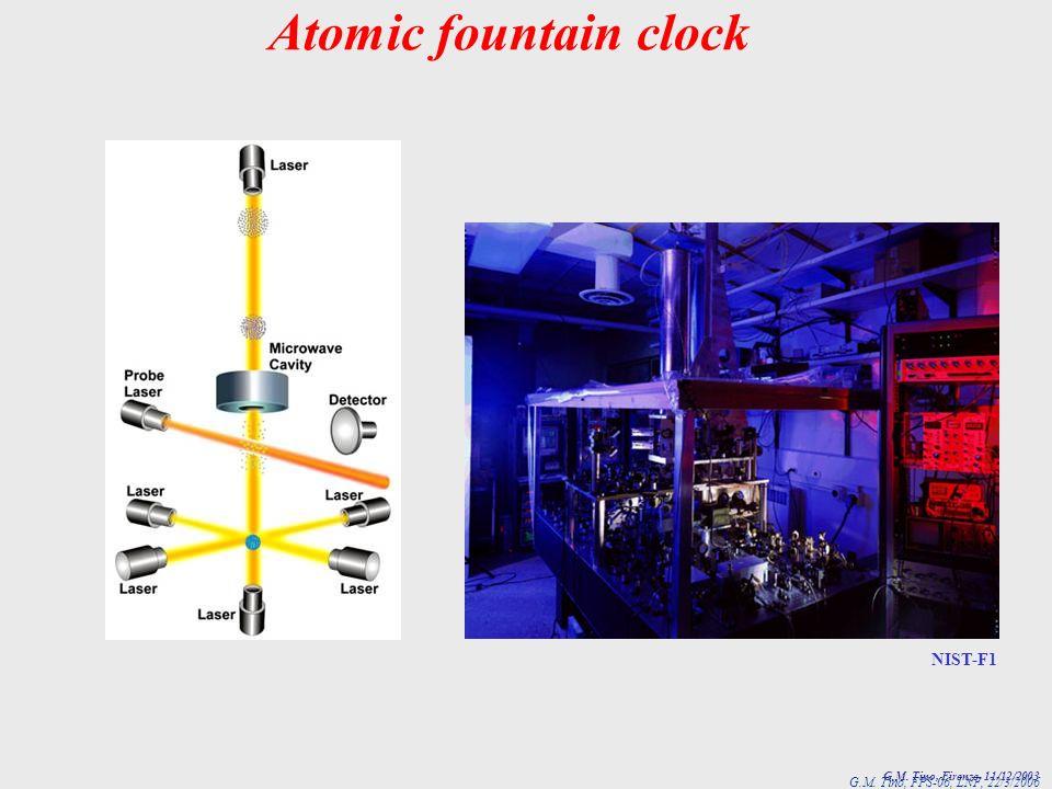 Atomic fountain clock NIST-F1 G.M. Tino, Firenze, 11/12/2003