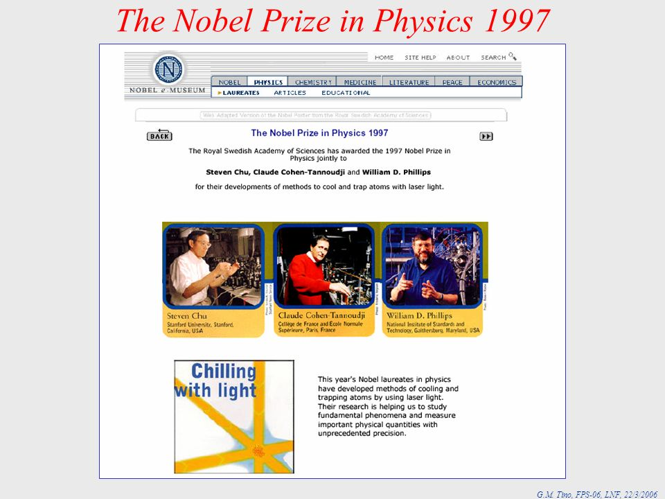 The Nobel Prize in Physics 1997