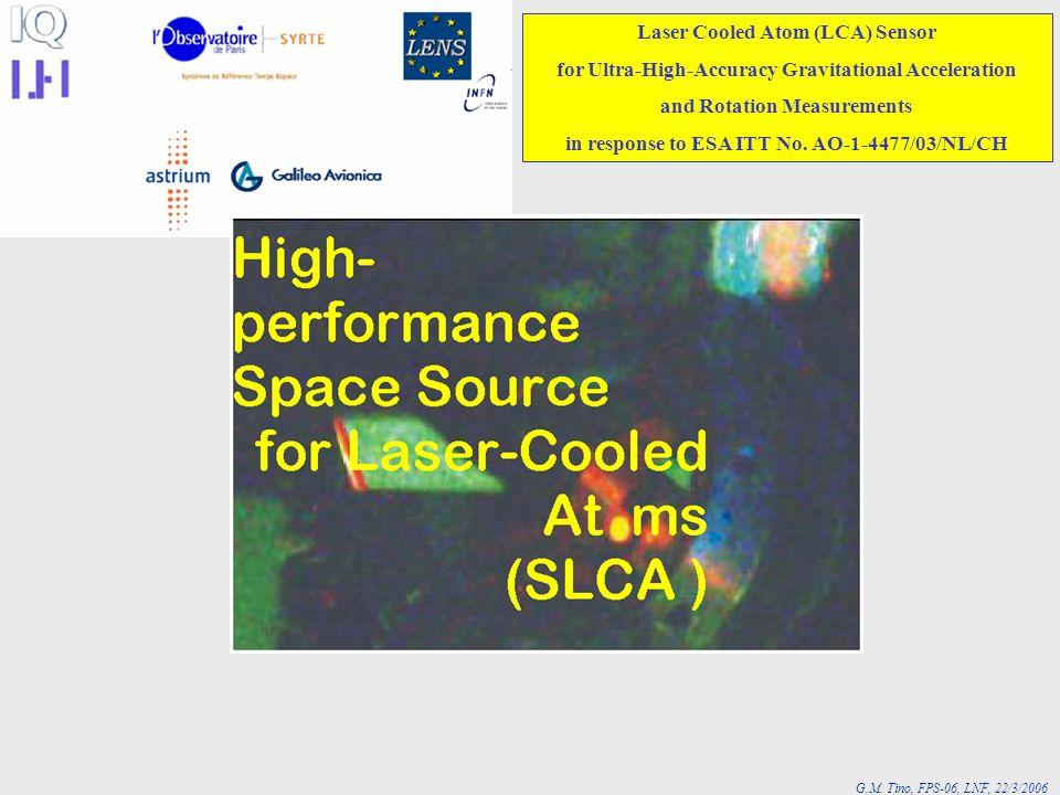 Laser Cooled Atom (LCA) Sensor