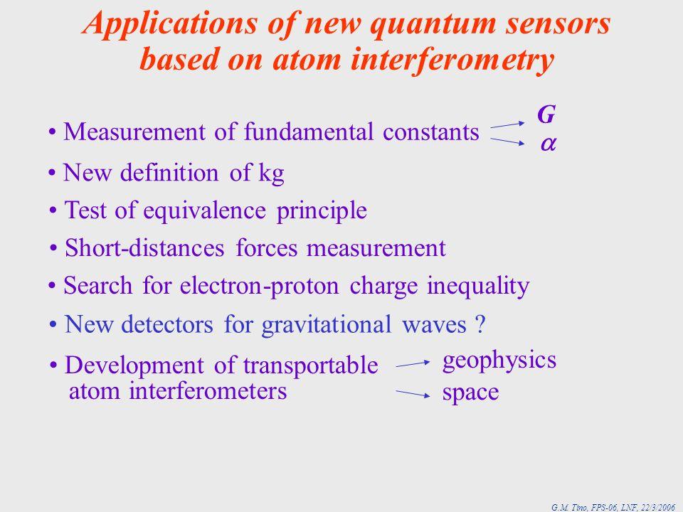 Applications of new quantum sensors based on atom interferometry