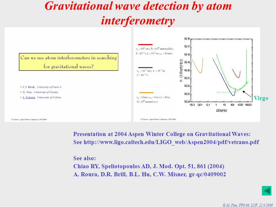 Gravitational wave detection by atom interferometry