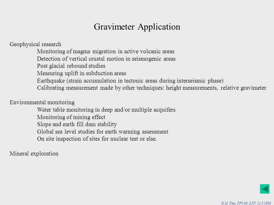 Gravimeter Application