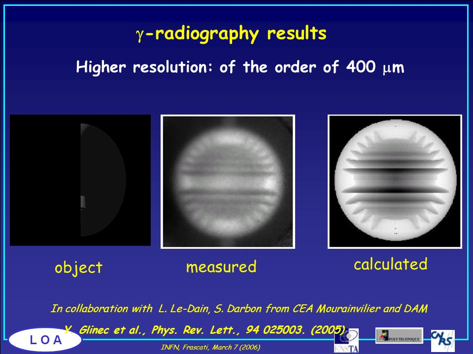 g-radiography results