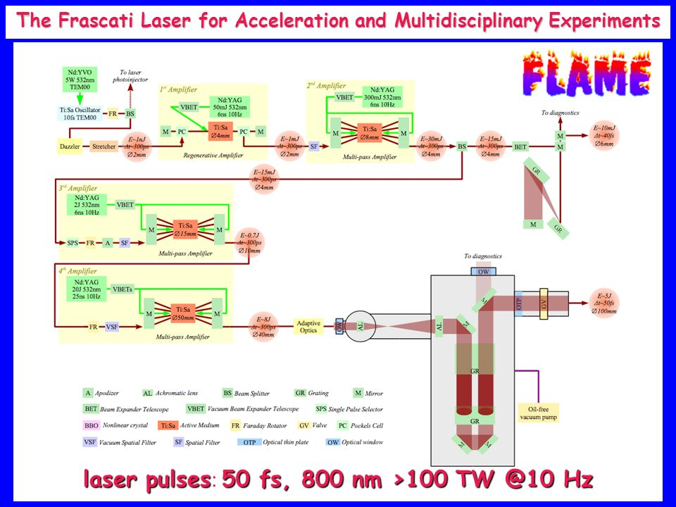 The Frascati Laser for Acceleration and Multidisciplinary Experiments