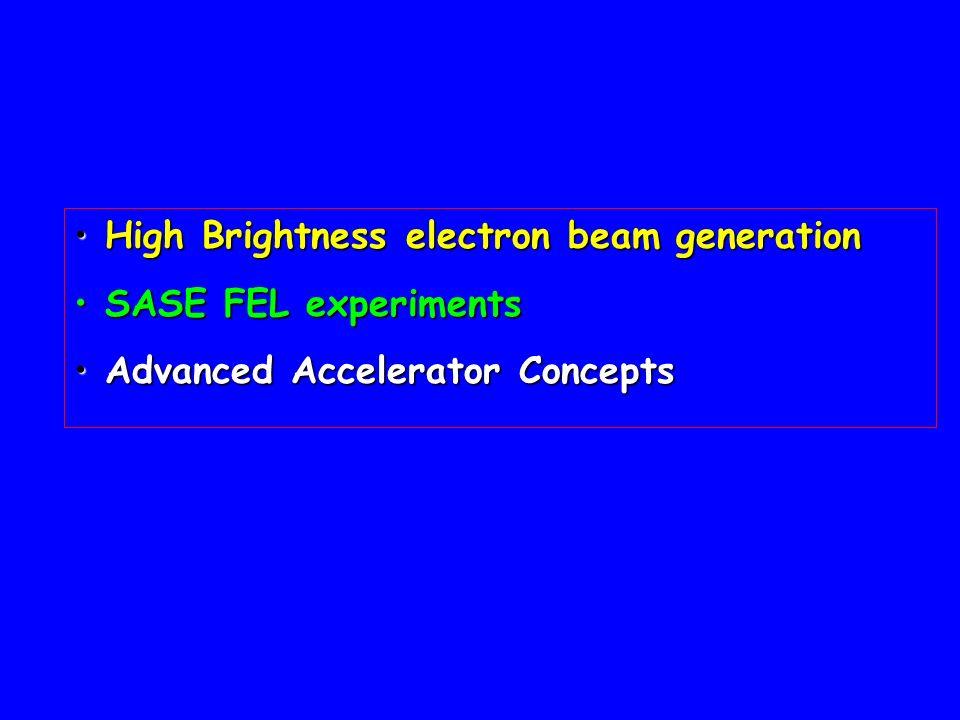 High Brightness electron beam generation
