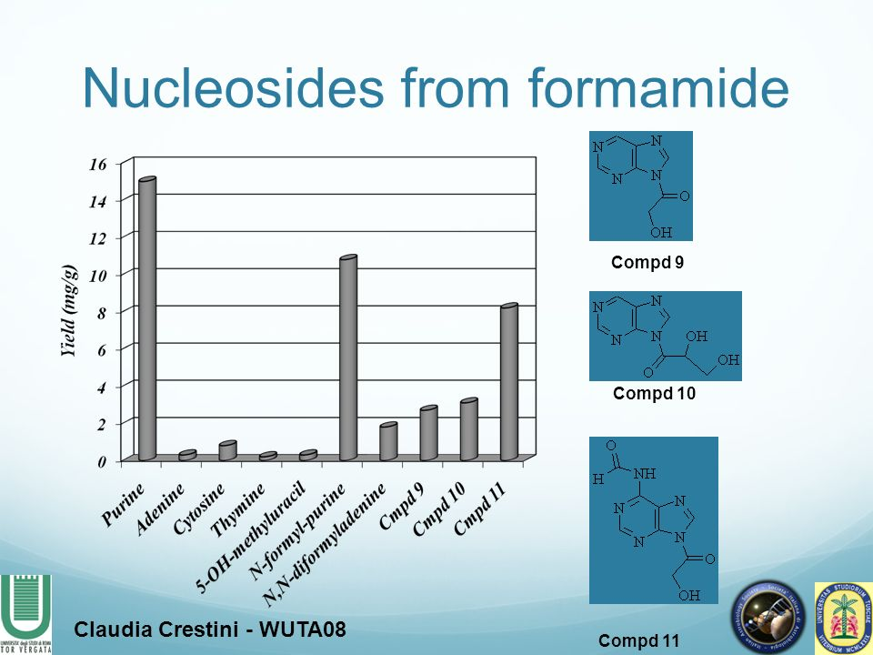 Nucleosides from formamide