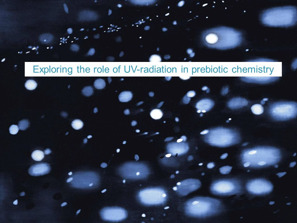 Exploring the role of UV-radiation in prebiotic chemistry