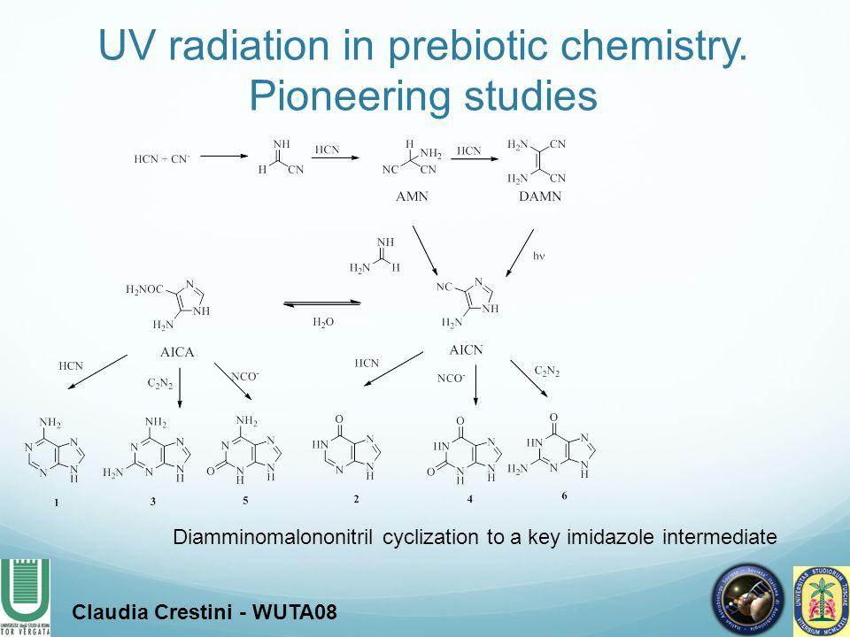 UV radiation in prebiotic chemistry. Pioneering studies