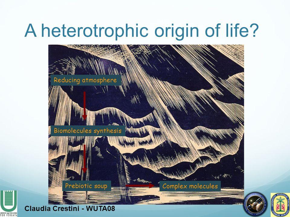 A heterotrophic origin of life