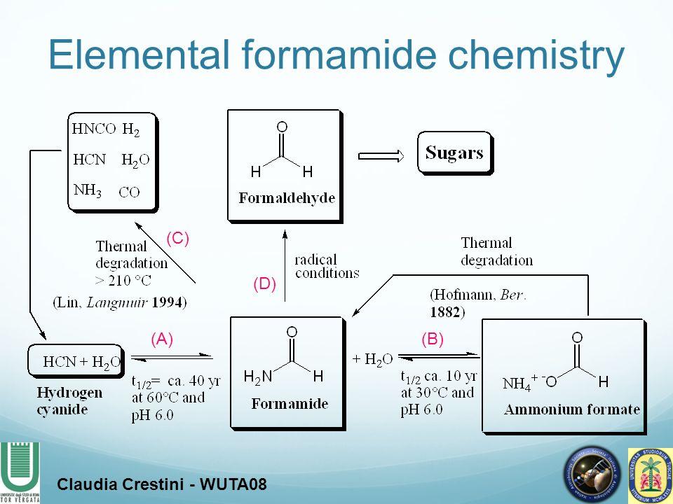 Elemental formamide chemistry