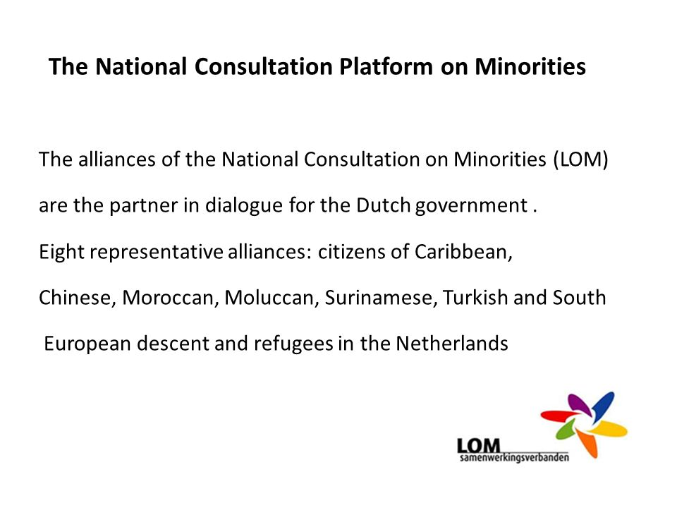 The National Consultation Platform on Minorities