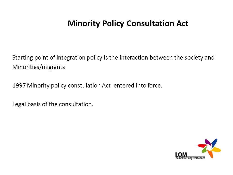 Minority Policy Consultation Act