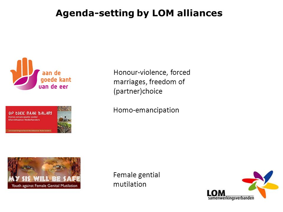 Agenda-setting by LOM alliances