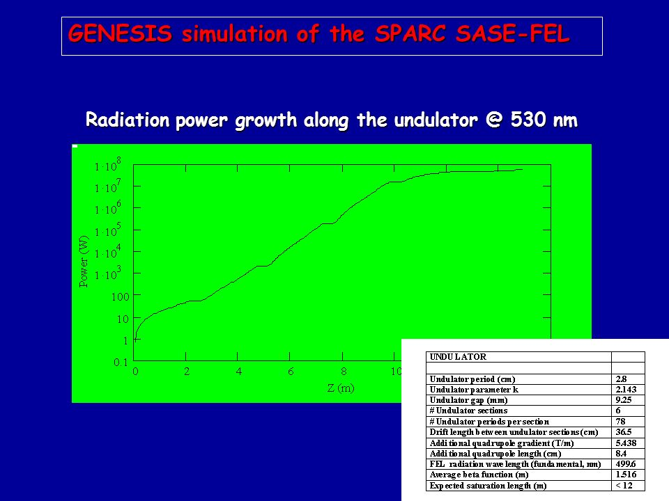GENESIS simulation of the SPARC SASE-FEL