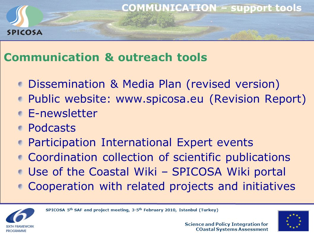 Communication & outreach tools