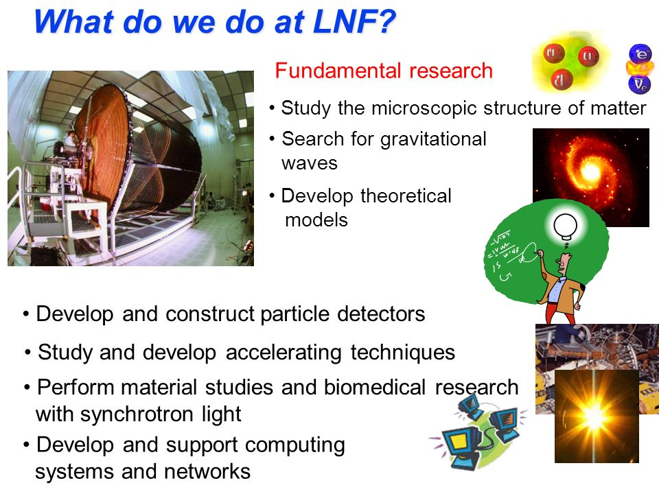 What do we do at LNF Fundamental research