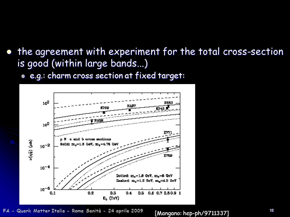 the agreement with experiment for the total cross-section is good (within large bands...)