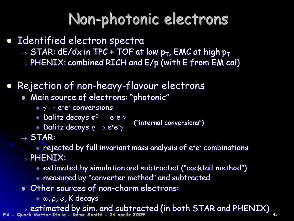 Non-photonic electrons