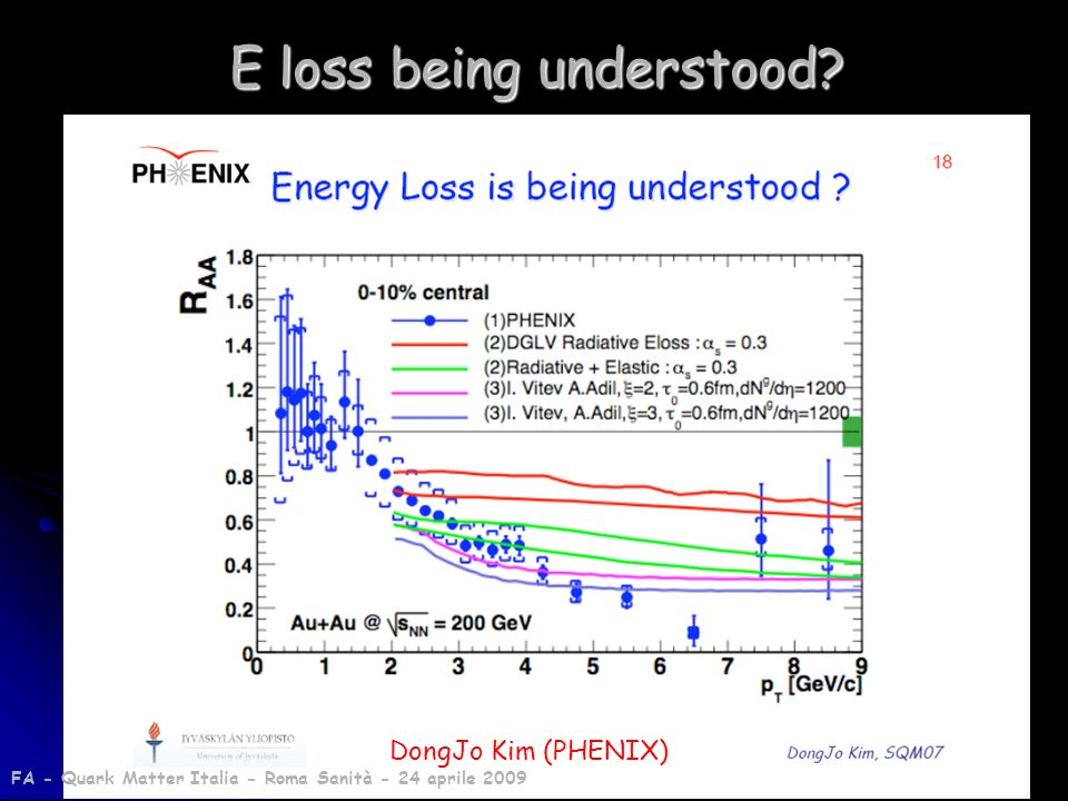 E loss being understood