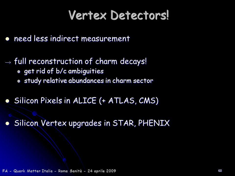 Vertex Detectors! need less indirect measurement
