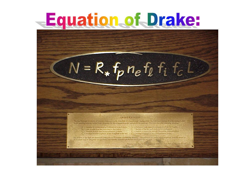 Equation of Drake: